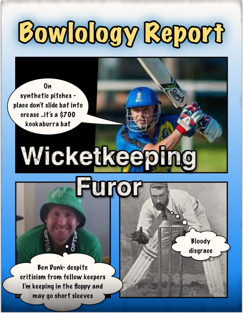 Wicketkeeping furor